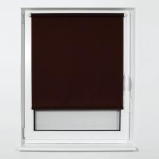 Штора рулонная светопроницаемая BRABIX 80х175 см, текстура 'Лён', коричневый, 605997