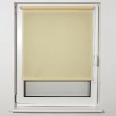 Штора рулонная светопроницаемая BRABIX 100х175 см, текстура 'Лён', кремовый, 605998