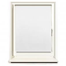 Штора рулонная светонепроницаемая Блэкаут BRABIX 80х175 см, белый/серебро, 606013