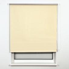 Штора рулонная светонепроницаемая Блэкаут BRABIX 160х175 см, кремовый/серебро, 606022
