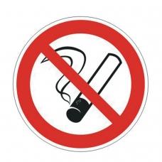 Знак запрещающий 'Запрещается курить', круг, диаметр 200 мм, самоклейка, 610001/Р 35