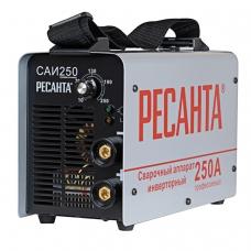 Сварочный аппарат инверторный САИ 250 РЕСАНТА, сварочный ток до 250 А, диаметр электрода до 6 мм, 65/6